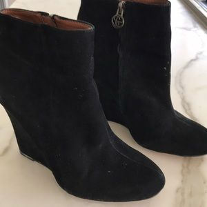 Sam Edelman black suede short boots
